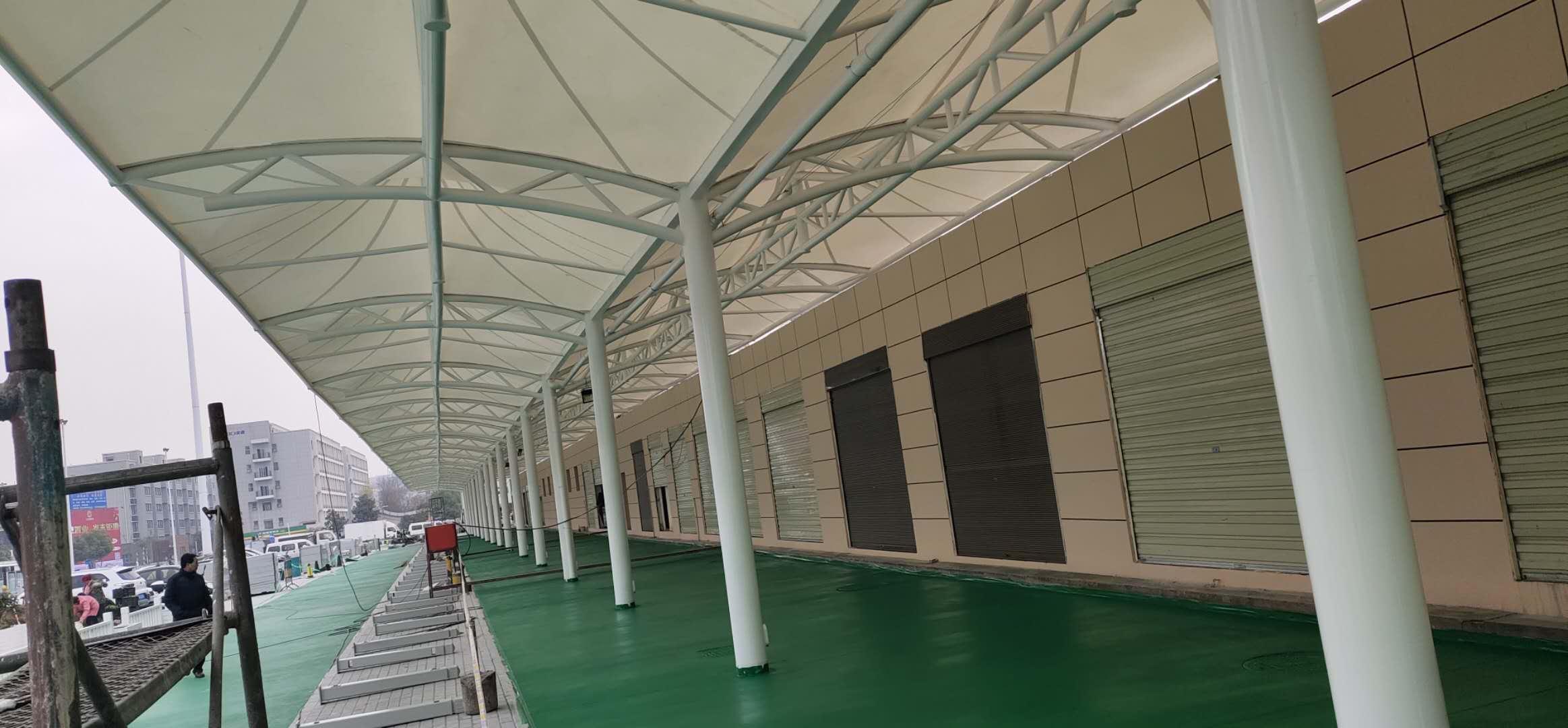安康火车站站前广场整治工程膜结构项目